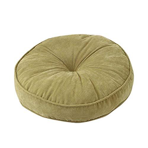 Decoración del hogar Silla redonda simple mando del amortiguador for el hogar la silla del asiento del amortiguador suave alfombra del piso sólido de color futón Mat Oficina Almohada 2 Tamaños Decorac