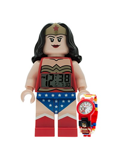 LEGO DC Universe Wonder Woman Despertador y Haz Reloj de Pulsera