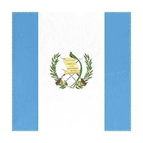 FANTAZIO - Alfombrillas de mesa con bandera de Guatemala, ai