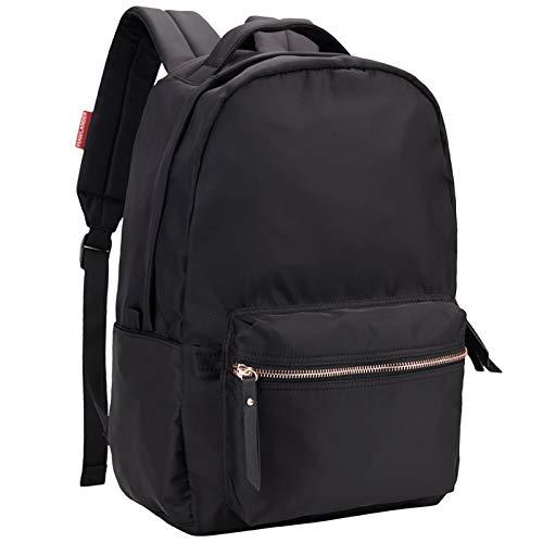 HawLander School Bag for Women or Teenage Girls Nylon 20 Liters Black Small Size