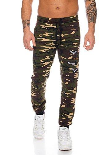 Raff&Taff Sportbroek voor heren, camouflage broek, vrijetijdsbroek, yogabroek, sweatbroek, voetbalbroek, joggingbroek