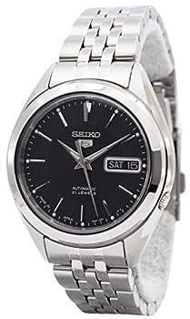 Seiko Seiko 5 Black Dial Stainless Steel Men s Watch SNKL23J1