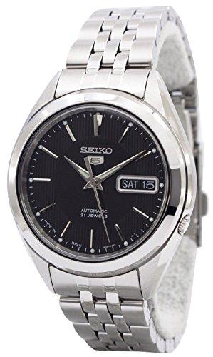 Seiko Seiko 5 SNKL23J1 - Reloj de Pulsera para Hombre, Esfera Negra