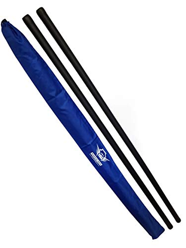 Foam Padded Training Bo Staff with Free Armory Carry Bag Case (Blue/Pair, 5 ft.)