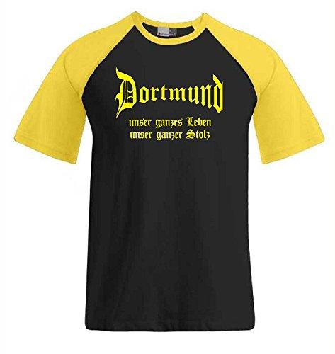 Dortmund unser Leben unser Stolz Baseball Ultras T-Shirt|L