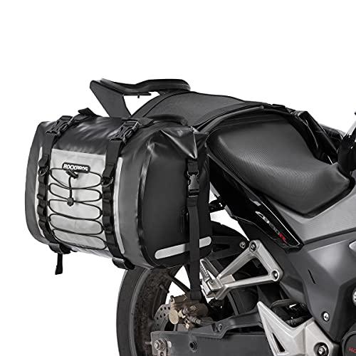 ROCKBROS Motorcycle Saddle Bag Saddlebags Waterproof Side Bag 60L for Honda Yamaha Suzuki Motorcycle Pack Removable Detachable Bag (2 PCS)