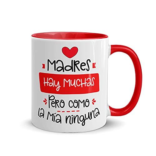 Kembilove Taza regalo día de la madre – Tazas Desayuno para Mamá con Mensaje Madres hay muchas pero como la mía ninguna – Tazas originales – Regalo para madres