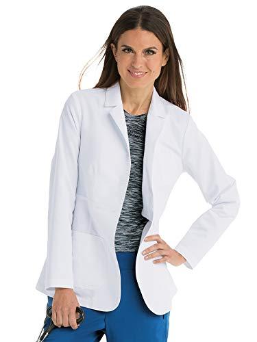Grey's Anatomy 4456 Women's Notch Collar Lab Coat White M