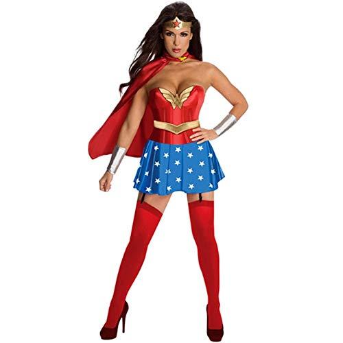 LNC-QQNY Lenceria Sexy Disfraz de Halloween Juego de rol de Superwoman mágico Juego de Disfraz Juego de rol de Mujer Europea y Americana
