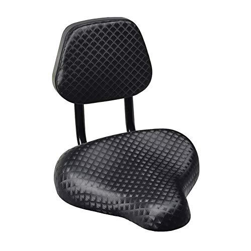 KUAQI Asiento de sillín de Bicicleta de Piel sintética de Gran Comodidad para Ciclismo con Soporte para Respaldo