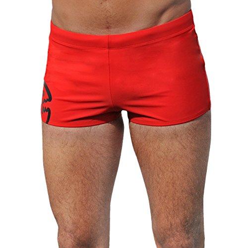 IQ UV Schutzkleidung Herren Badehose Shorts, Rot (red), Gr. L