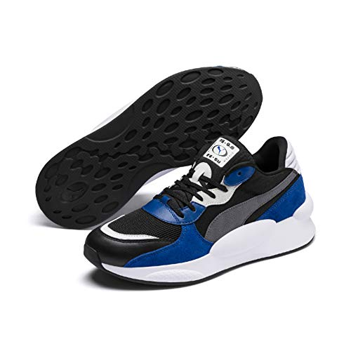 PUMA RS 9.8 Space, Zapatillas Unisex Adulto, Black-Galaxy Blue, 43 EU