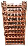 Unimet Cave à vin modulable, Étagère à Bouteille, Casier à Bouteille, Range Bouteille, Porte Bouteille (60 emplacements de Bouteilles, Brun)…