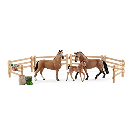 SCHLEICH Horse Club Hanoverian Family in The Pasture Toy