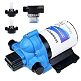 DC HOUSE 33-Series 12V Water Diaphragm Pump with Pressure Switch 3.0GPM 45Psi 12 Volt Water Pump for RV Marine Yacht Caravan