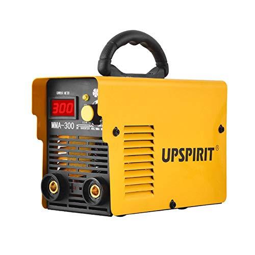 Dispositivo de soldador Mini Inverter DC MMA 200 doméstico, portátil, con carcasa, electrodos manual, 20 – 120 A, color amarillo