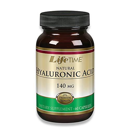 Lifetime Natural Hyaluronic Acid,140mg, 60 Capsules