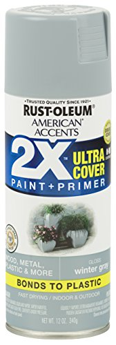 Rust-Oleum 327900-6PK American Accents Ultra Cover 2X Satin, 6 Pack, Gloss Winter Gray