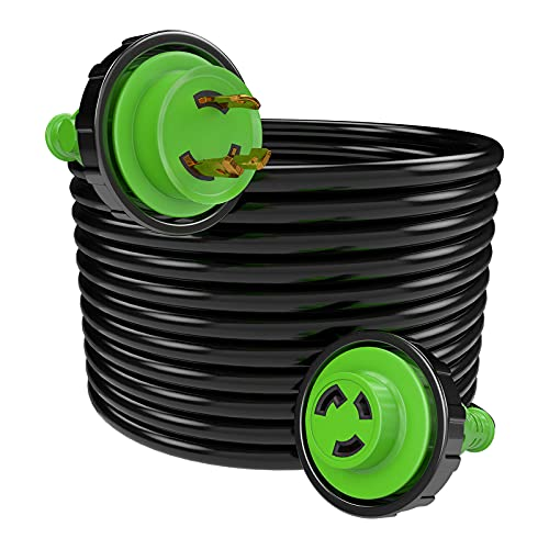 RVMATE 25 Feet Marine Shore Power Extension Cord with Locking, 30Amp, 125V, Stow, 10AWG