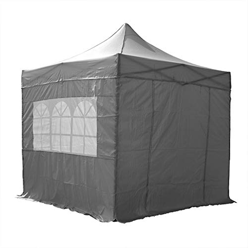 AIRWAVE Gazebo Four Seasons Essential Pop Up with Sides Waterproof 3 x 3m (Grey)