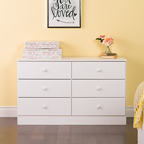 Prepac Astrid 6 Drawer Dresser, White