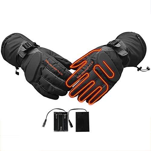 Verwarmbare handschoenen, elektrische oplaadbare batterijhandschoenen met temperatuurregelaar, winddichte winterhandschoenen voor dames en heren, voor snowboarden, sneeuwruimtes, fietsfietsen of wanden