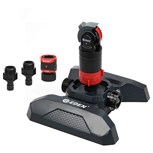 Eden 94124 Multi Pattern Turbo Gear Drive Sprinkler Plus Misting System, with Quick Connect Set, 360 Degree Coverage
