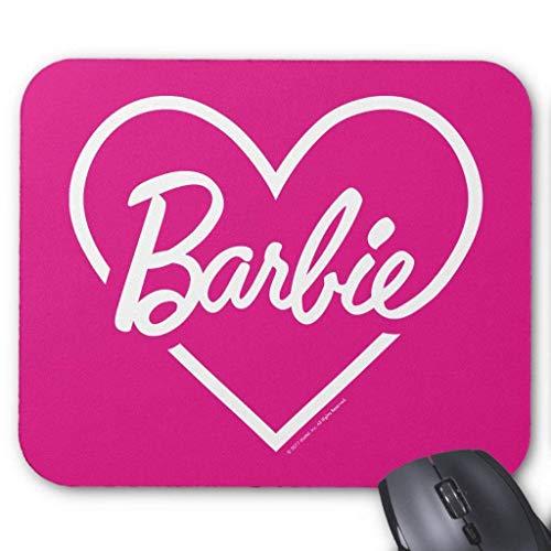 Barbie | Alfombrilla de ratón con logotipo de corazón rosa de 18 cm x 22 cm