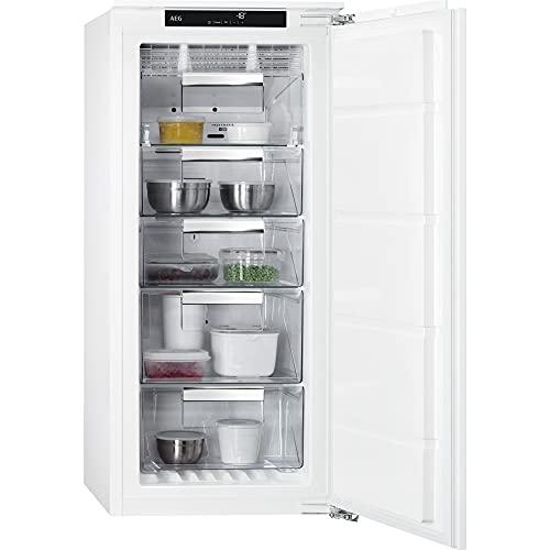 AEG ABE812E6NF Congelador Vertical Integrable, 122 cm, NoFrost, Display LCD Táctil, Inverter, 4 cajones, Door on Door, Clase E