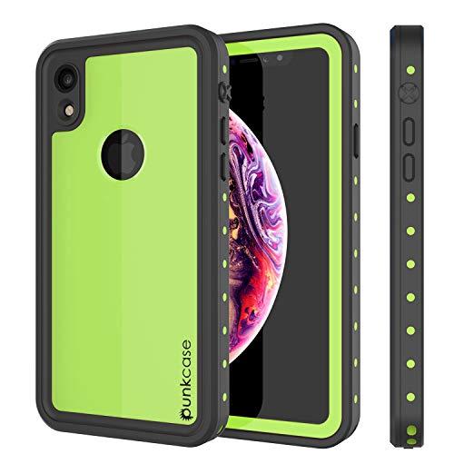 iPhone XR Waterproof Case, Punkcase [StudStar Series] [Slim Fit] [IP68 Certified] [Shockproof] [Dirtproof] [Snowproof] Armor Cover for Apple iPhone XR [Light Green]