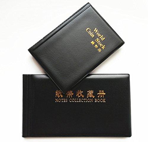 Esmartlife Confezione da 2 pezzi New Fashion Money Holder Collection Starter Kit, 120 portamonete Collection + 40 pagine Paper Money Holder Collection Album di archiviazione