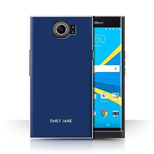 Stuff4® Personalisiert Individuell Farbe Palette Hülle für BlackBerry Priv/Mitternacht Blau Design/Initiale/Name/Text Schutzhülle/Case/Etui