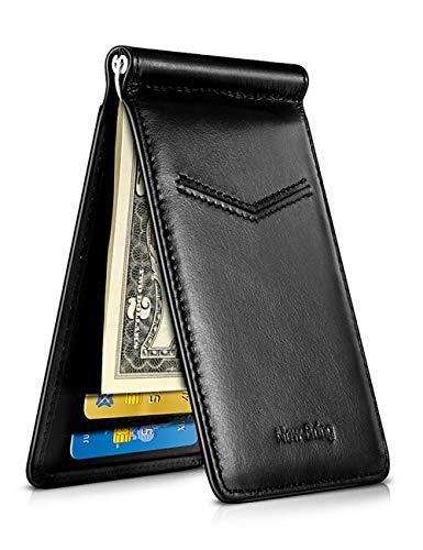 Carteras para Caballero, New-Bring Clips para Billetes Carteras para Hombres Tarjetero Cartera de Crédito Billetera de Cuero Money Clip Porta Tarjetas Bloqueo RFID Minimalista...