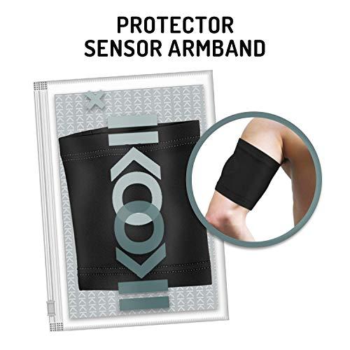 Glucose Sensor Schutz Armband - Kompatibel mit Abbott Freestyle Libre - Dexcom G4 G5 G6 - Guardian Sensor - Omnipod - Flexibel Komfortabel und wiederverwendbar - Schwarze Farbe - Größe 32 cm