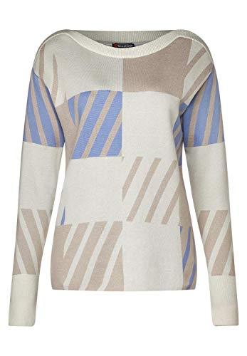 Street One Damen 300989 Pullover, Mehrfarbig (Light Blue Melange 31855), (Herstellergröße:44)