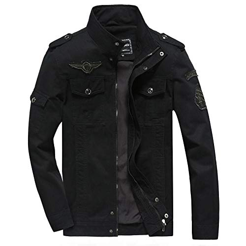 Men's Outdoor Jacket Winter Coat With Men's Cotton Casual Jacket-Black_5XL