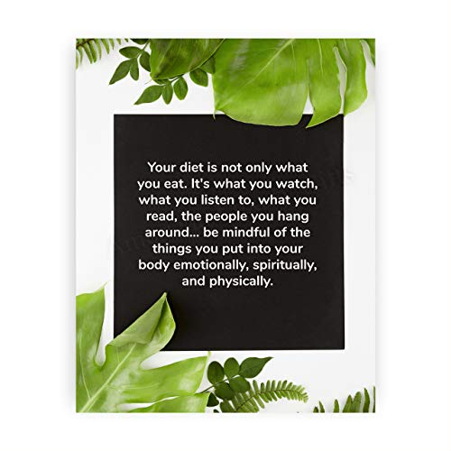 """Be Mindful of the Things You Put Into Your Body""-Motivational Quotes Wall Art-8 x 10"