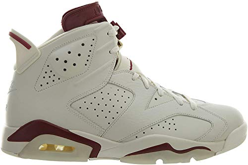Nike Herren Air Jordan 6 Retro Turnschuhe, Blanco/Rojo (Off White/New Maroon), 42 1/2 EU