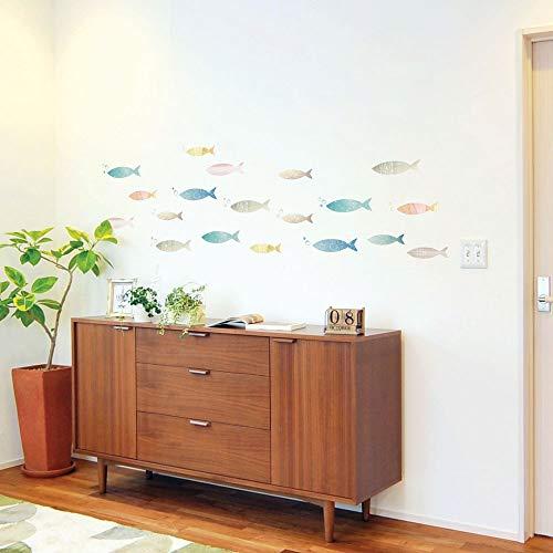 wall sticker(ウォールステッカー) 北欧 魚の行進