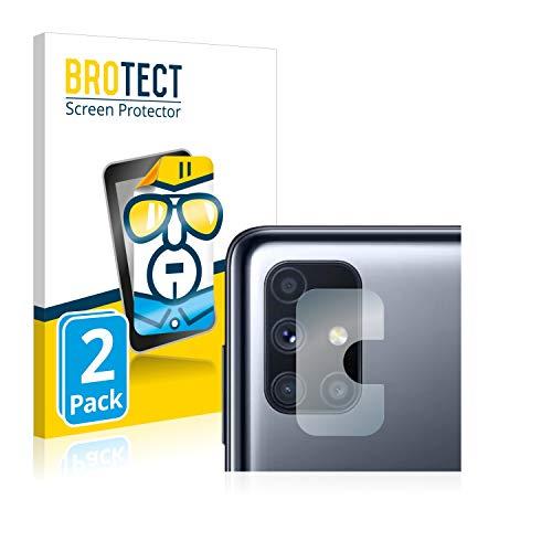 BROTECT Schutzfolie kompatibel mit Samsung Galaxy M51 (NUR Kamera) (2 Stück) klare Bildschirmschutz-Folie