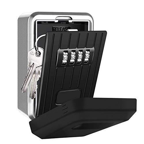 Eletorot Cassetta di Sicurezza a Chiave,Custodia per Chiavi per uso esterno,Key Lock Box Custodia,Al Muro Impermeabile Chiave Key Lock Box Custodia 4