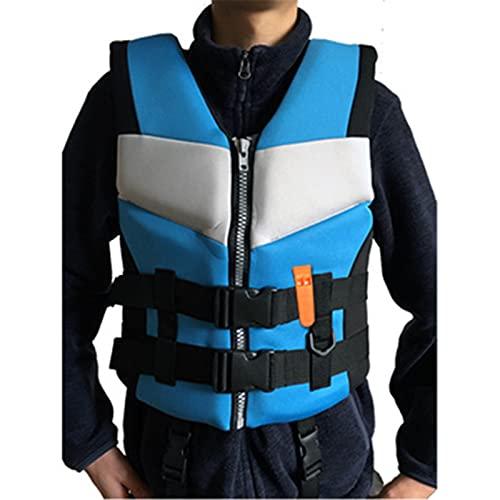 AWDG Chalecos de Vida para Adultos, Surf, a la Deriva, natación, Pesca, Chaleco de flotabilidad Infantil, Chaleco Protector marítimo de inundación y Rescate Blue-L