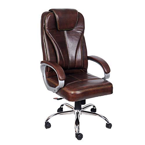 CELLBELL C51 High Back Revolving Boss Chair [Wooden Brown]