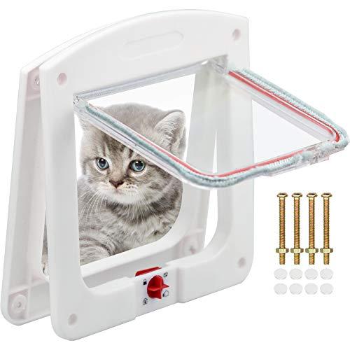 TDDL gattaiola per Gatti e Cani di Piccola Taglia Porta Schermo per Animali Domestici Chiusura a 4 Vie Porta Scorrevole per Finestra di Sicurezza per Animale Domestico