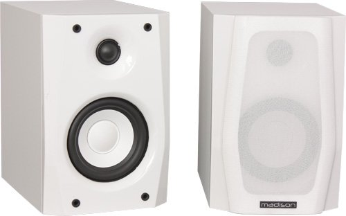 Madison MAD-4WH - Conjunto de altavoces, color blanco