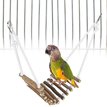 Denkerm Jouet d'échelle d'oiseau, échelle en Bois d'oiseau Non Toxique Flexible pour Les Hamsters pour Les Souris