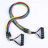 DFDS Ejercicio Gimnasio de Fitness Boxeo Banda de Resistencia cordón Traje de músculos Deportes Ejercicio Equipo de formación de Yoga Banda elástica Deportes (Color : One Set)