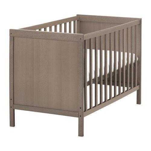 IKEA SUNDVIK babybed in grijsbruin; (60x120cm)