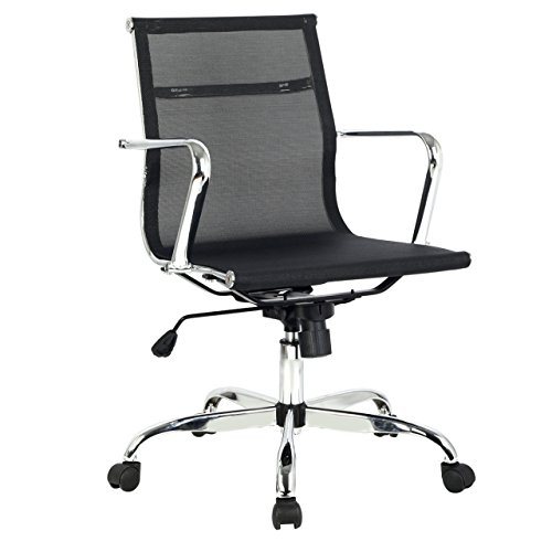 New Modern Design Ergonomic Mid Back Executive Comfortable Computer Desk Task Office Chair #669