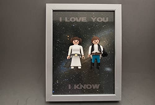 Marco Clicks playmobils customizados Star Wars Han Solo Y Leia